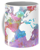 Coffee Mug Cup 11oz 15oz Made USA Design 48 World Map continents L.Dumas - $19.99+