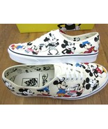 Vans x Disney Mens Authentic Mickeys Birthday Canvas Shoes White VN0A38E... - $94.49