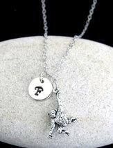 Hanging Monkey Necklace, Personalized Swinging Monkey Pendant Necklace, - £9.47 GBP