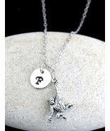 Hanging Monkey Necklace, Personalized Swinging Monkey Pendant Necklace, - $13.20