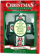 Gibson Christmas Collectibles CROSS Ornament Helen Steiner Rice Porcelai... - $9.90