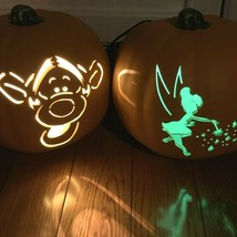 Disney Gemmy TIGGER AND TINKERBELL Lighted Halloween Pumpkins Jack O Lan... - $59.35