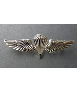 Navy Marines Paratrooper Basic Jump Silver Colored Wings Pin Badge 2.75 Para - $7.55