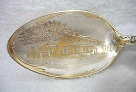 Sterling Silver Souvenir Spoon Brookville, Indiana Hermitage, ca. 1900 - $44.71