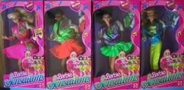 1987 BARBIE & the SENSATIONS BARBIE BELINDA BECKY BOBSY 4 POP STARS Doll... - $137.61