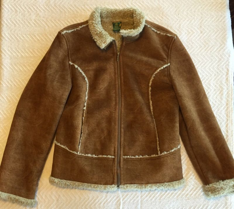 Primary image for Women's Faux Suede Cabela's Sz M Medium Jacket Coat SOFT Lined High Quality!!!!