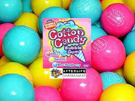 Gumballs Cotton Candy Bubble Gum 25mm Or 1 Inch (57 Count), 2LBS - $25.89