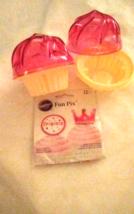 2 Go Cupcake Plastic Holders 2 PC Pink Storage Container Wilton Picks + ... - $14.95