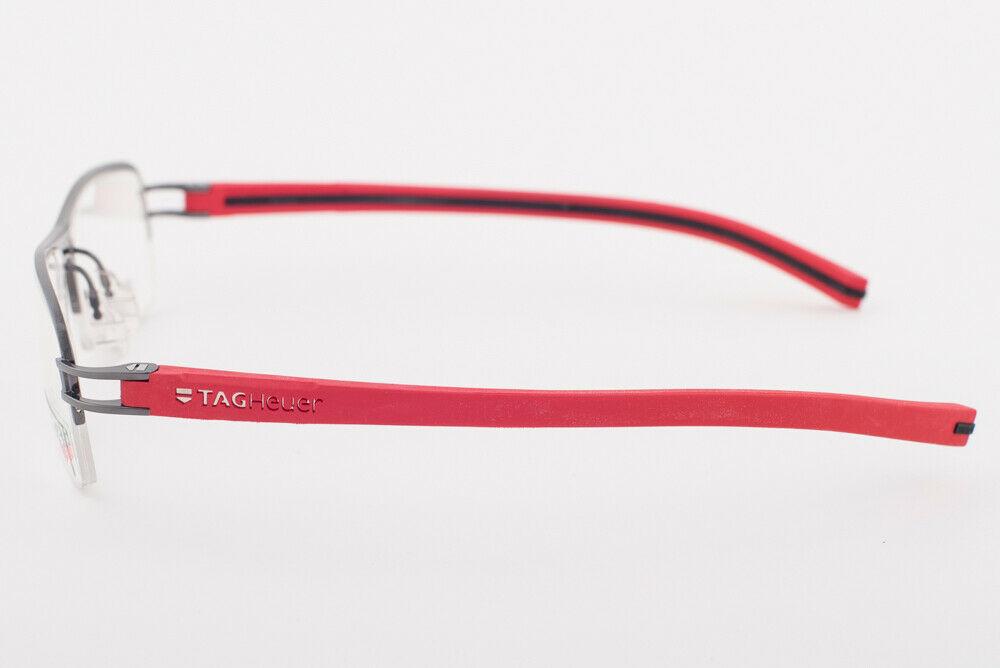 Tag Heuer 7624 010 Track Red Black Eyeglasses 7624-010 57mm