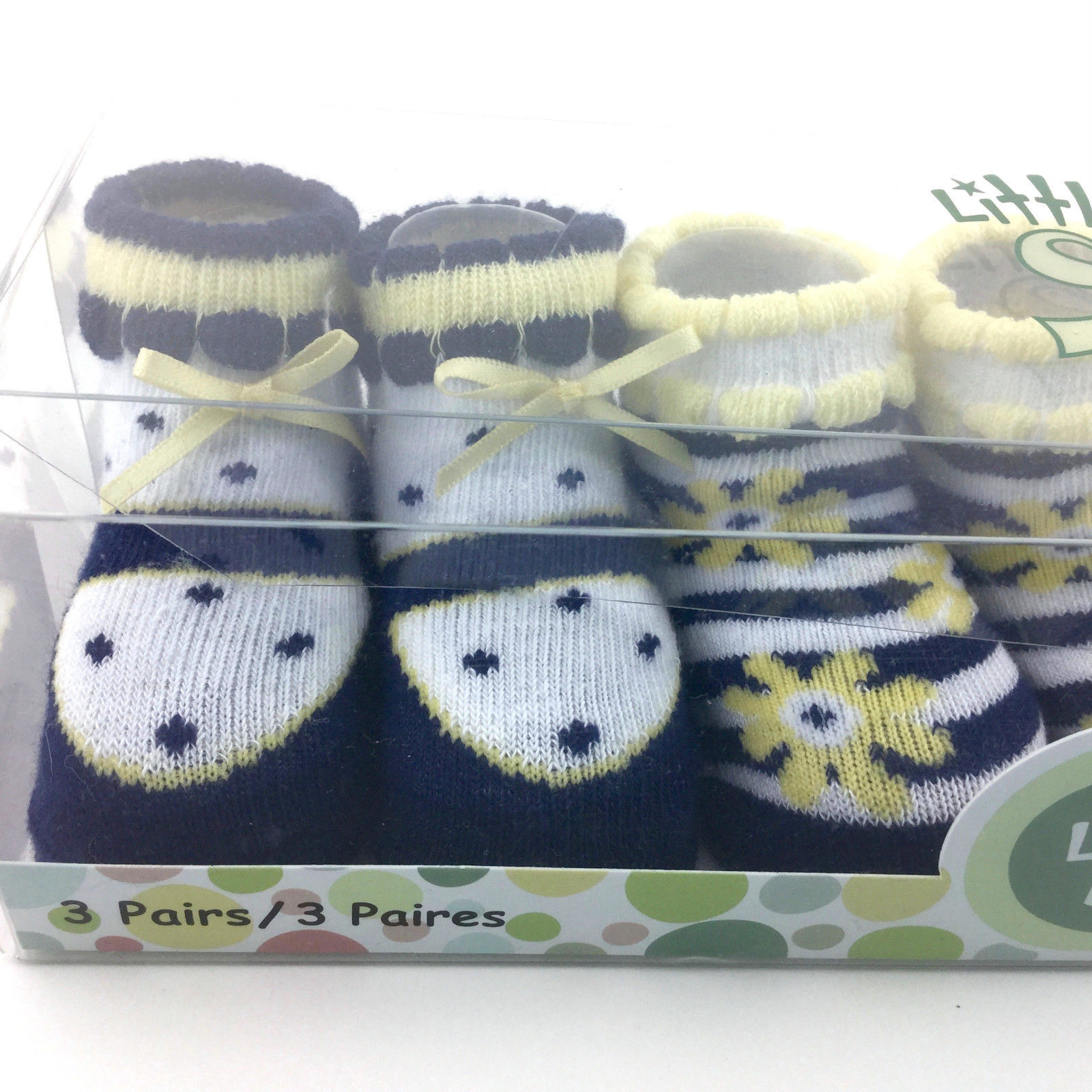 Baby Girl Crib Shoes BOOTIES Socks Size 0 to 12 Months Little Me 3 Pairs
