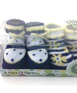 Baby Girl Crib Shoes BOOTIES Socks Size 0 to 12 Months Little Me 3 Pairs - $19.57