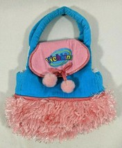 Webkinz Pink & Turquoise Plush Pet Carrier Bag Accessory by Ganz No Code - $8.54