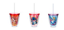 Disney Store Acrylic Tumbler Color Change Straw New 2017 Belle Stitch Alice - $39.95