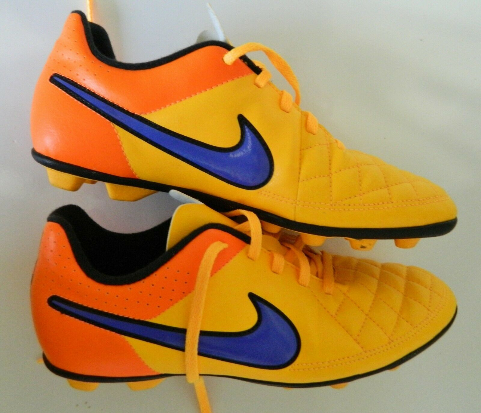 Primary image for Nike Tiempo Legend V Men's Cleats Yellow/Orange/Purple US Size 5.5