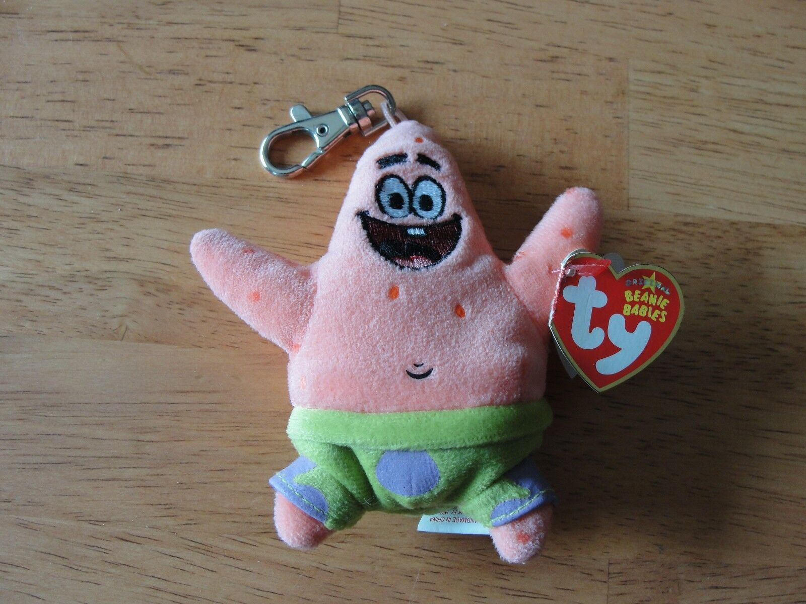 Primary image for Ty LICENSED Beanie Baby Babies Patrick Star NEW MWNMT