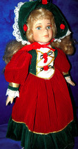 Angelina Christmas Porcelain Doll 1998 series Collection - $23.33