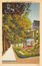 WILSON, North Carolina NC  NASH STREET SCENE Trees~Homes ca1940's Linen ... - $6.84
