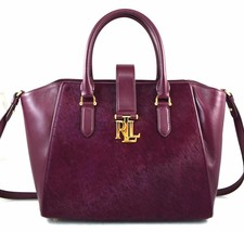 Ralph Lauren Leather Carrington Bethany Shopper Red Satchel Purse Handbag - $99.00