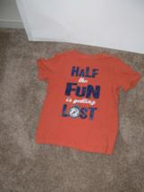 Gymboree Boys Half the Fun is Getting Lost Orange Shirt Size 6 ek - $7.99