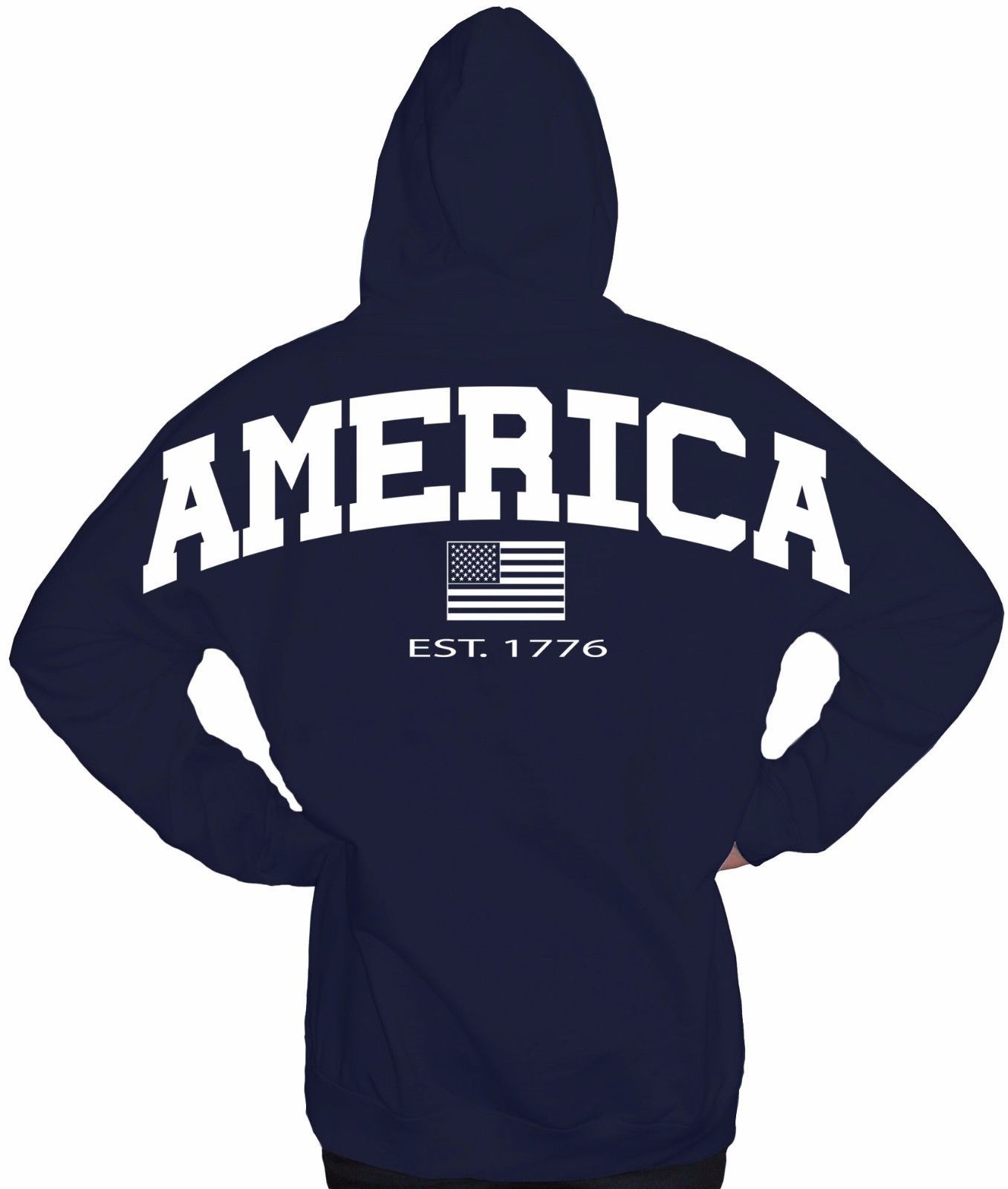 JUMBO AMERICAN FLAG USA FREEDOM PATRIOTISM PRIDE ARMY SWEATER SWEATSHIRT HOODIE