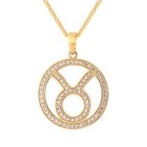 U7 12 Zodiac Necklaces & Pendants For Men/Women Birthday Gift Silver/Gold Color  - $14.30