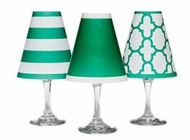 di Potter WS141 Nantucket Paper White Wine Glass Shade, Emerald Green (P... - $19.99