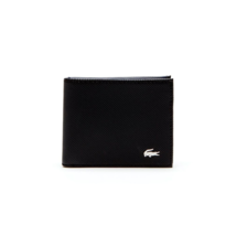 Men's Lacoste Slim Leather Credit Card Holder ID Slot Tricolor Accents NH2099ED image 4