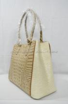 NWT Brahmin Joan Leather Tote in Champagne Merritt Tri-Texture - $349.00