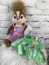 """BABW Build A Bear Chipmunk Alvin & the Chipmunks Brittany 15"""" With 2 Dresses - $25.54"""