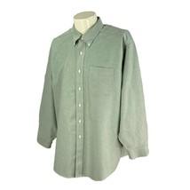 LL Bean Men's Wrinkle Resistant 100% Cotton Green Oxford Dress Shirt 17.... - $19.78