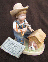 Denim Days 1503 Puppy Love Danny with doghouse HOMCO single figurine - $4.95