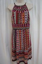 Maggy London Dress Sz 8 Black Grape Mult Key Hole Casual Jersey Dress   - $59.35