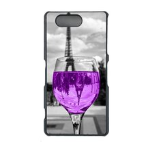 Coloful wine with Paris Sony Z1 Compact, Z1 mini case Customized premium plastic - $11.87