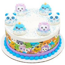 Kawaii Panda Narwhal Whale Sheep Party CUPCAKE Favors Topper Cake Animal... - $9.85