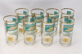 """Libbey Southern Comfort Riverboat Tumblers Glasses 5.5"""" Lot of 8 - $48.99"""