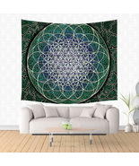 Sacred Geometry Flower of Life Tapestry Wall Hanging,- Mandala Tapestry,... - $38.00