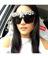New Fashion Crystal Sunglasses Women Luxury Bling Rhinestone Oversize Sq... - $32.99