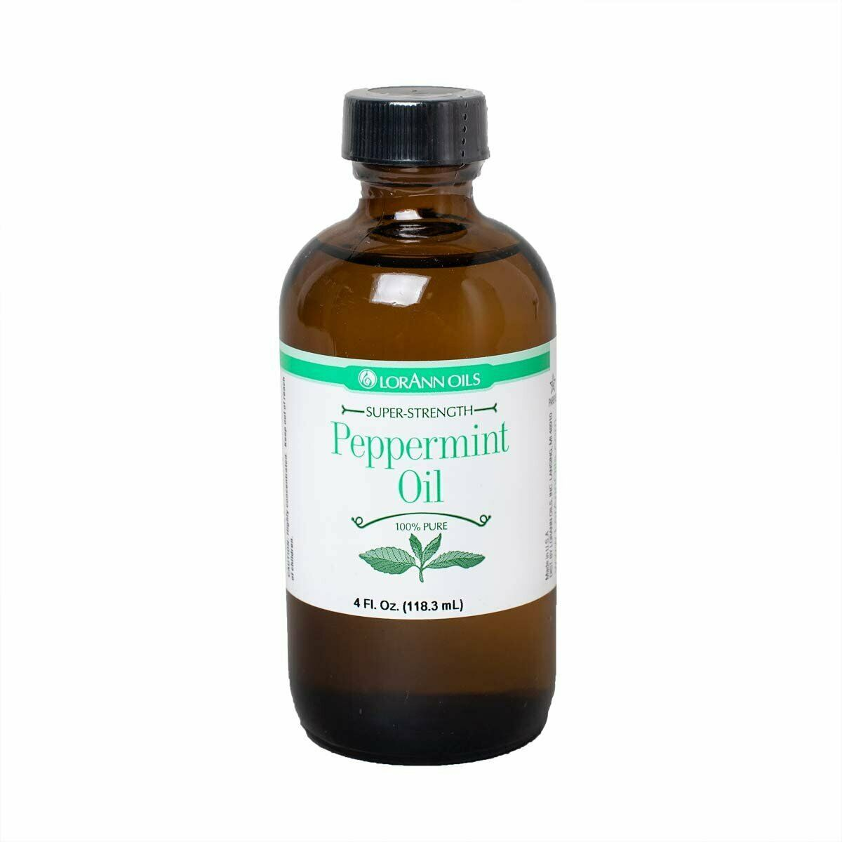 Primary image for LorAnn Super Strength Peppermint Oil, Natural Flavor, 4 ounce bottle
