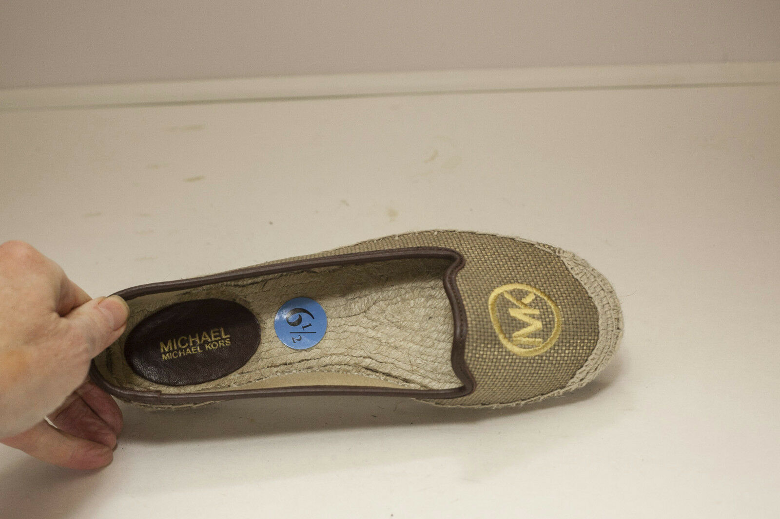 Michael Kors US 6.5 Gold Brown Espadrilles Flats Women's