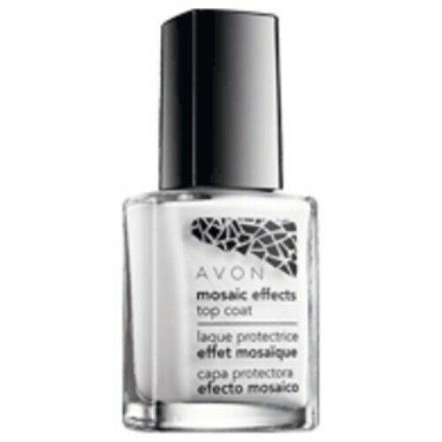 AVON Avon Mosaic Effect Nail Enamel - Top Coat - White 12 ml Discontinued New - $12.75
