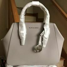 100% AUTHENTIC MICHAEL KORS CHARLOTTE Pebbled Leather L SATCHEL SHOULDER... - $167.31