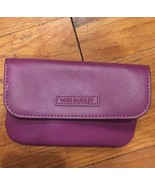 Vera Bradley Faux Leather Wallet Coin Purse Plum NWOT - $13.95