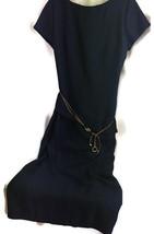 Dress Barn Womens Size 16 Dress Navy Faux 2 piece Belted Midi - $18.80
