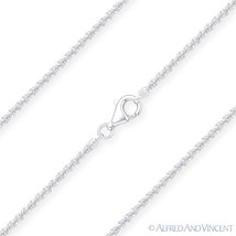 1.6mm Roc Link Italian Sparkle-Rope Chain Necklace in .925 Italy Sterlin... - $16.03+
