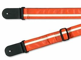 *[Genuine] RENEGADE guitar strap Competition stripe orange - cream RETRO STRIPE - $18.29