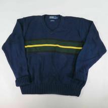Grande Hombre de Polo By Ralph Lauren Azul Marino Verde, Amarillo Rayas - $21.68