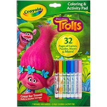 Color and Activity Book w Markers, Trolls - $9.61