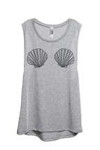 Thread Tank Mermaid Bra Women's Sleeveless Muscle Tank Top Tee Sport Grey - $24.99+