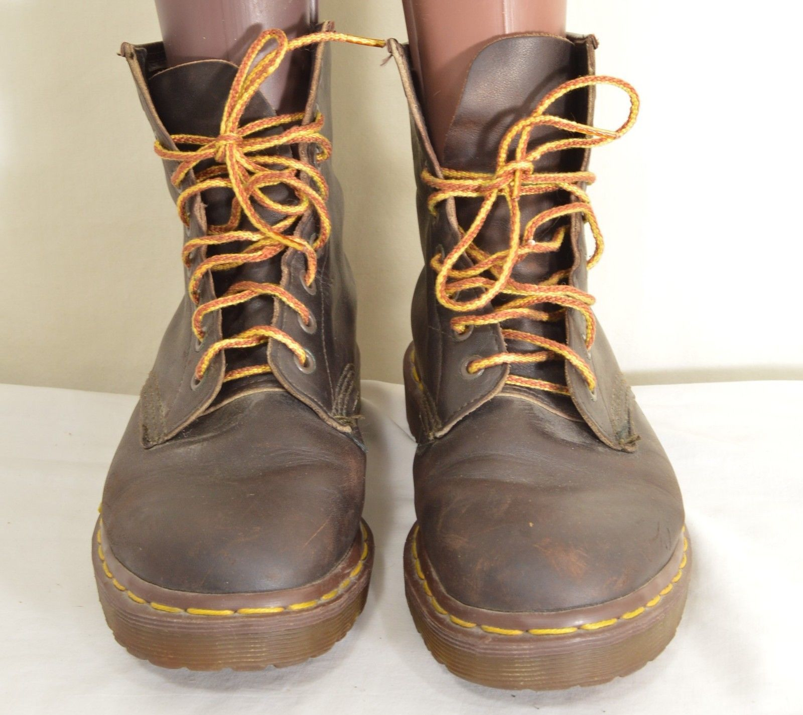 Dr Martens boots ankle UK 6 US 8 EU 39 dark brown lace up AirWair 8 eye
