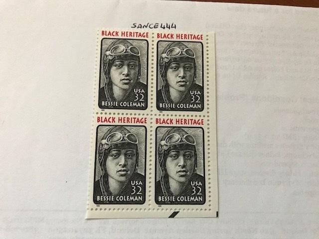 USA United States Bessie Coleman block  mnh 1995  #3     stamps
